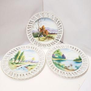 GORGEOUS Vintage Ucagco Hand Painted Plates